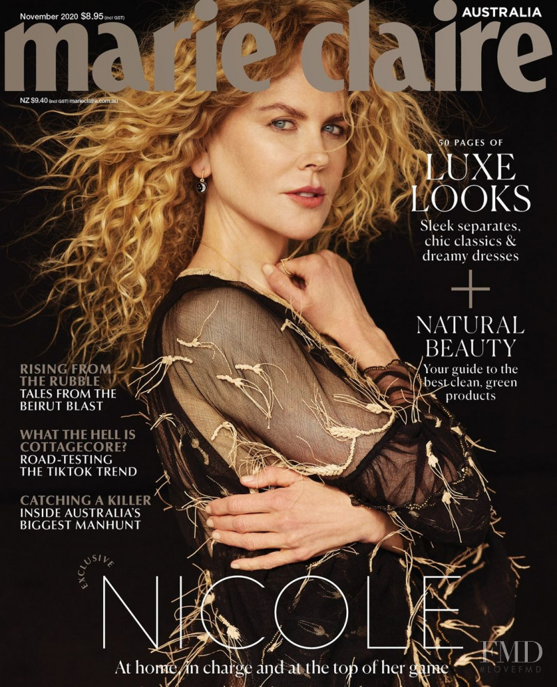 Nicole Kidman featured on the Marie Claire Australia cover from November 2020