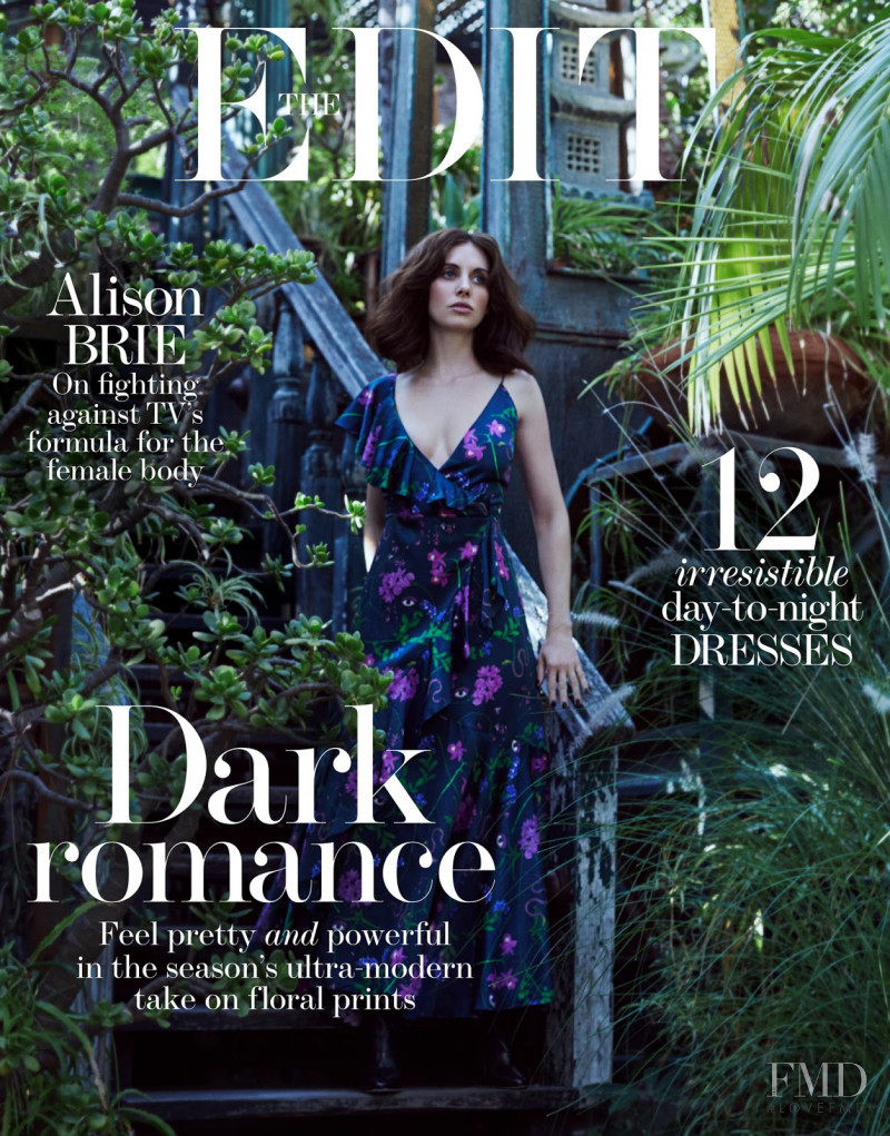 Alison Brie featured on the The Edit cover from December 2017