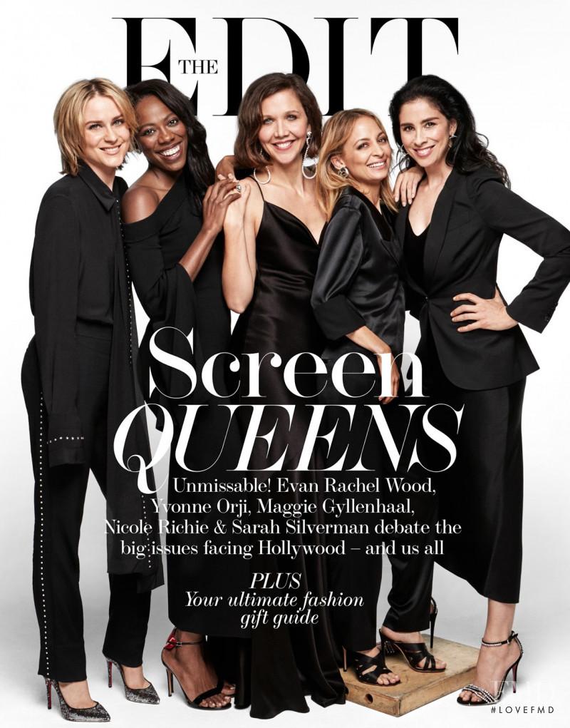 Yvonne Orji & Sarah Silverman Nicole Richie & Maggie Gyllenhaal Evan Rachel Wood featured on the The Edit cover from December 2017