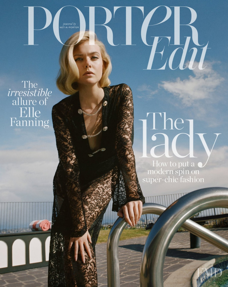 Elle Fanning featured on the The Edit cover from March 2019