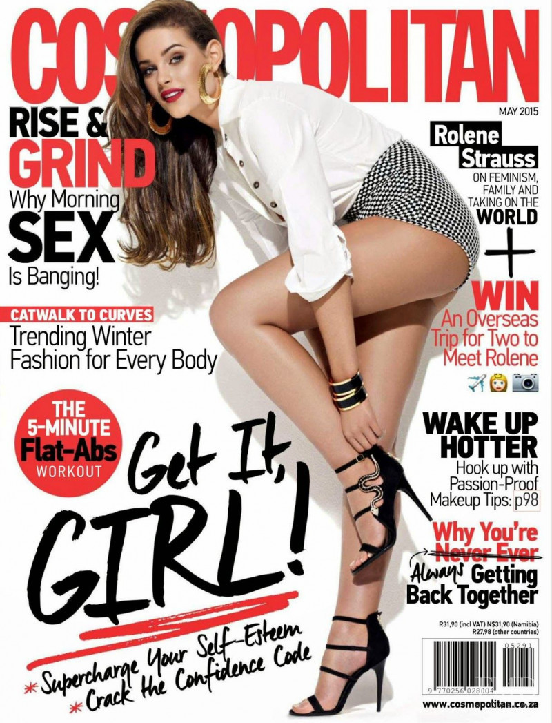 Rolene Strauss featured on the Cosmopolitan South Africa cover from May 2015