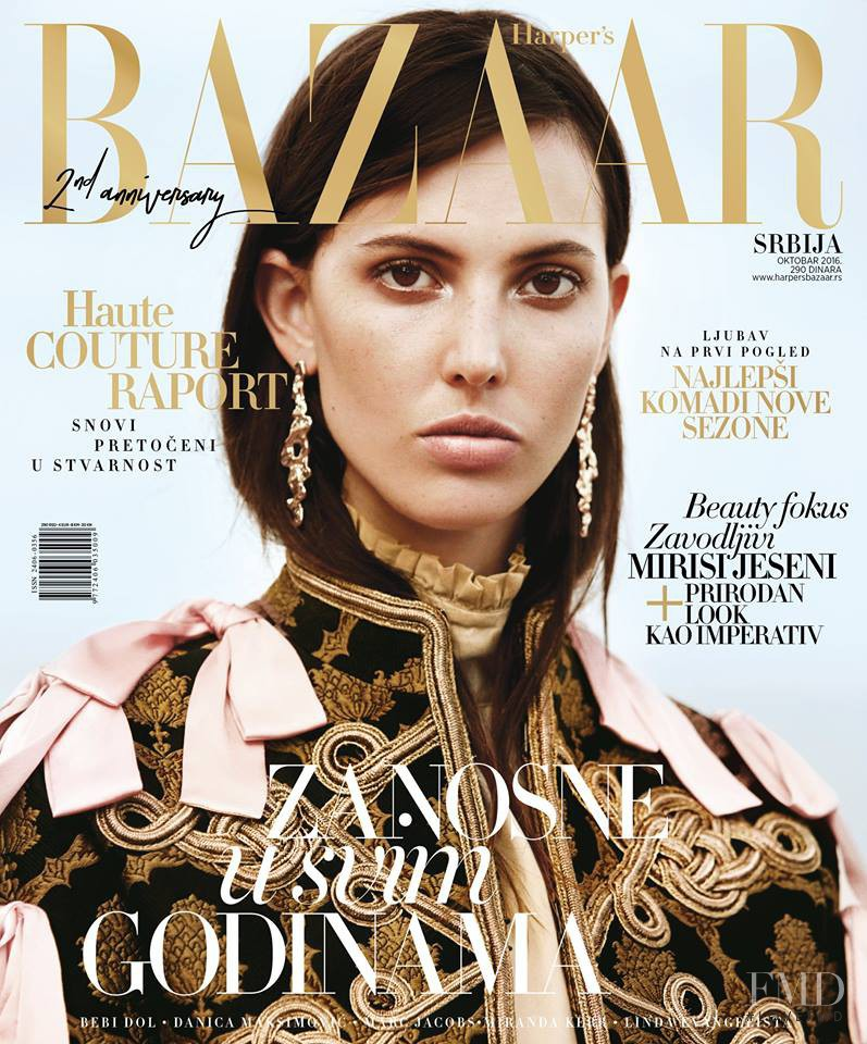 Ruby Aldridge featured on the Harper\'s Bazaar Serbia cover from October 2016