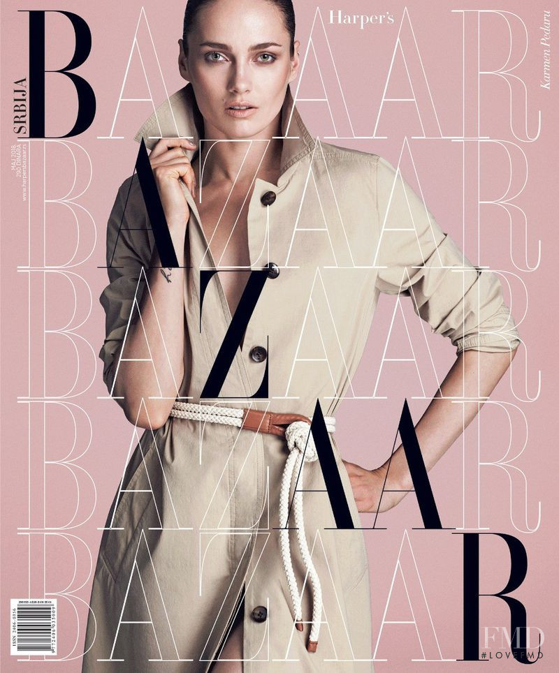 Karmen Pedaru featured on the Harper\'s Bazaar Serbia cover from May 2018