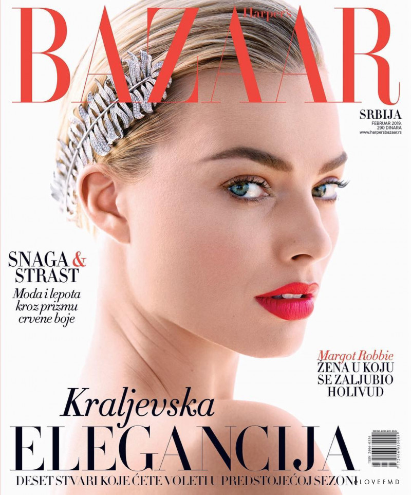 Margot Robbie featured on the Harper\'s Bazaar Serbia cover from February 2019