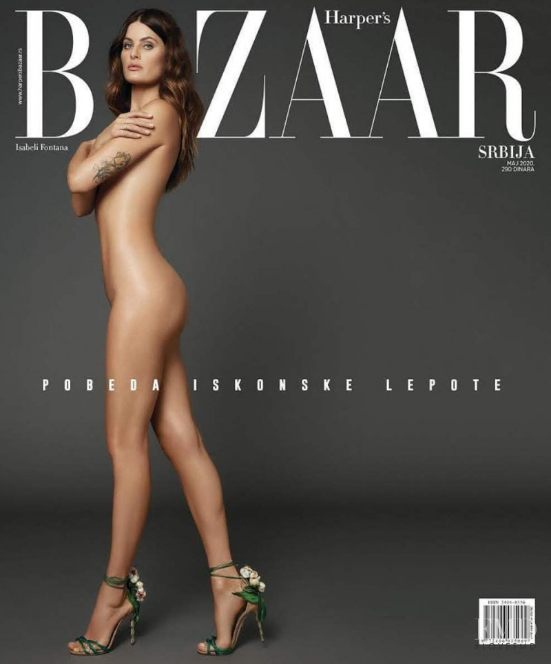 Isabeli Fontana featured on the Harper\'s Bazaar Serbia cover from May 2020