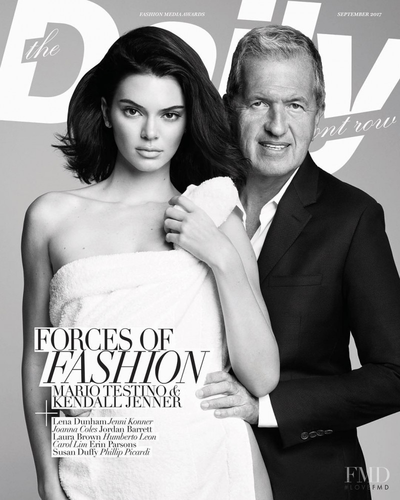 Kendall Jenner featured on the The Daily Front Row cover from September 2017