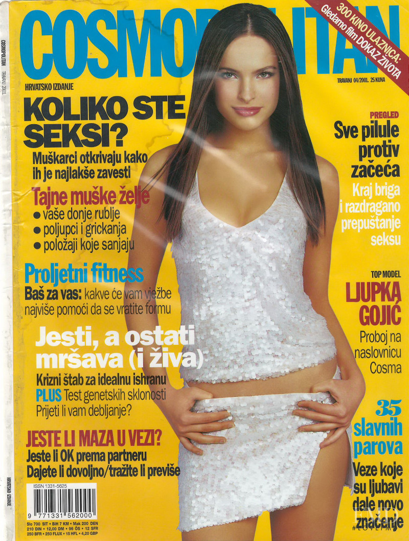 Ljupka Gojic featured on the Cosmopolitan Croatia cover from April 2001