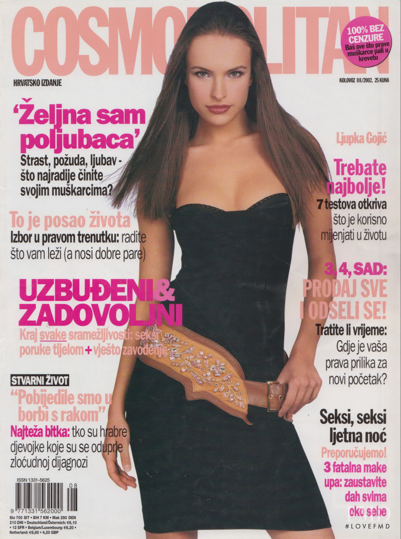 Ljupka Gojic featured on the Cosmopolitan Croatia cover from August 2002