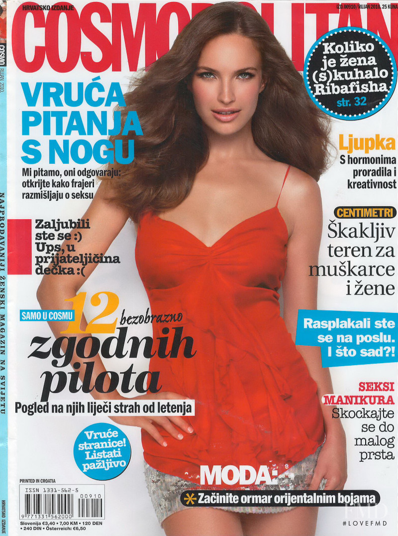Ljupka Gojic featured on the Cosmopolitan Croatia cover from September 2010