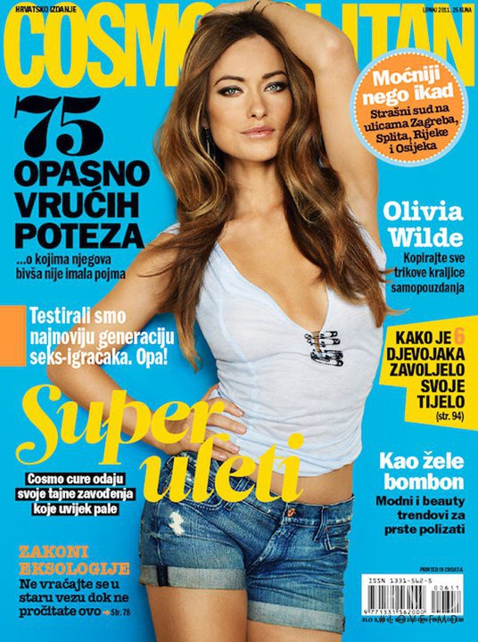 Olivia Wilde featured on the Cosmopolitan Croatia cover from June 2011