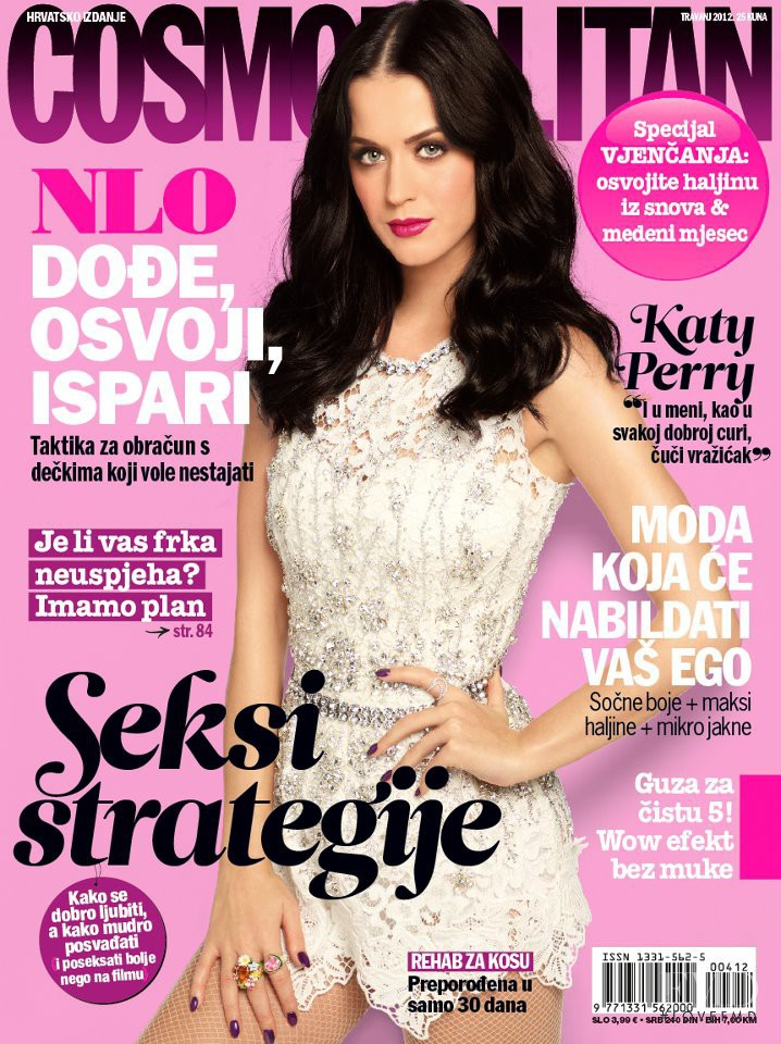 Katy Perry featured on the Cosmopolitan Croatia cover from April 2012