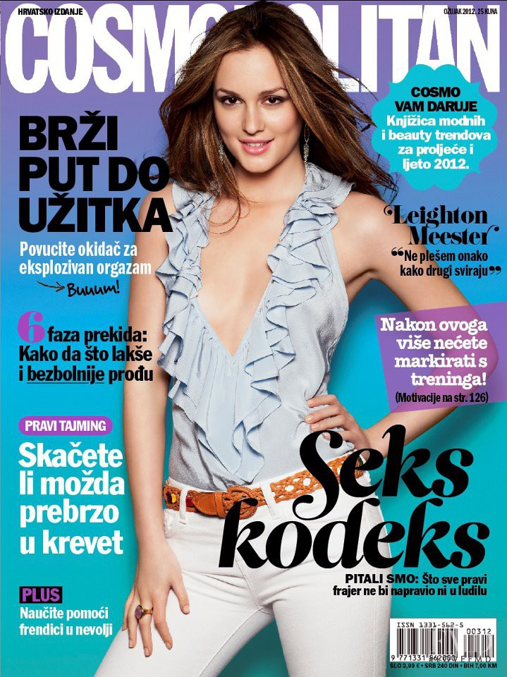 Leighton Meester featured on the Cosmopolitan Croatia cover from March 2012