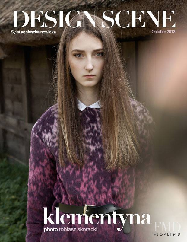 Klementyna Dmowska featured on the Design Scene cover from October 2014
