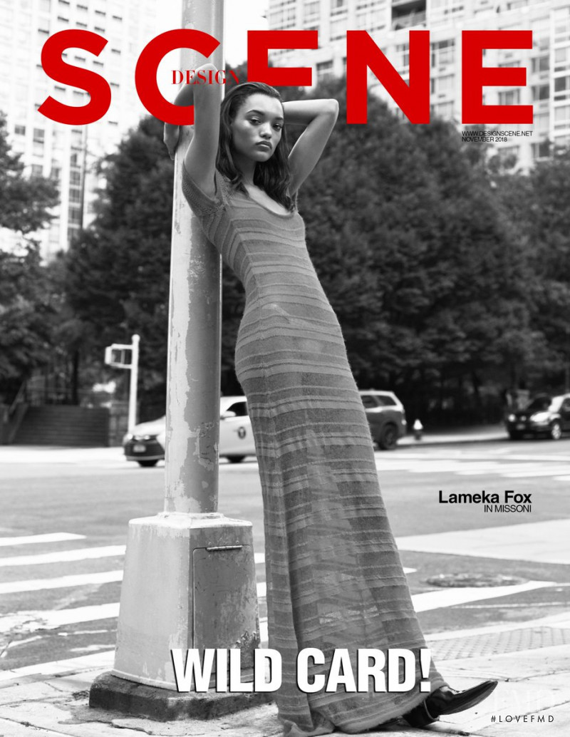 Lameka Fox featured on the Design Scene cover from November 2018