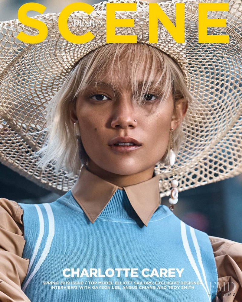 Charlotte Carey featured on the Design Scene cover from April 2019