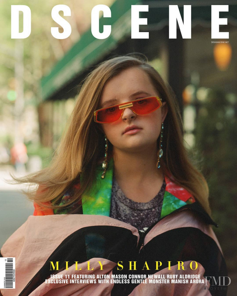 Milly Shapiro featured on the Design Scene cover from June 2019