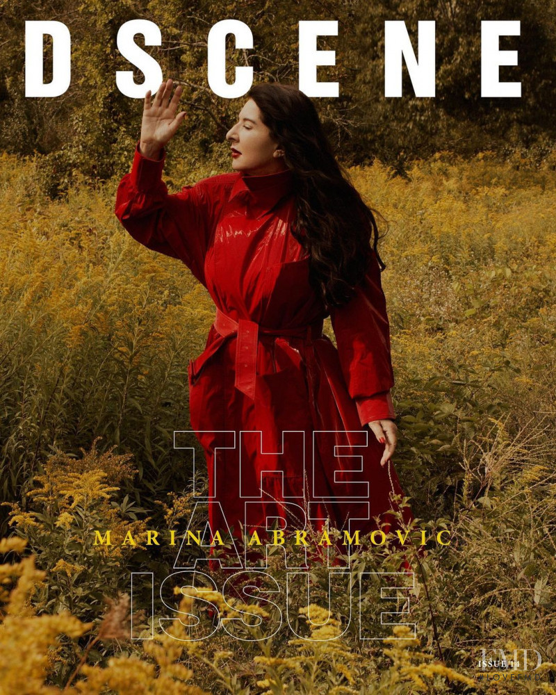 Marina Abramovic featured on the Design Scene cover from December 2020