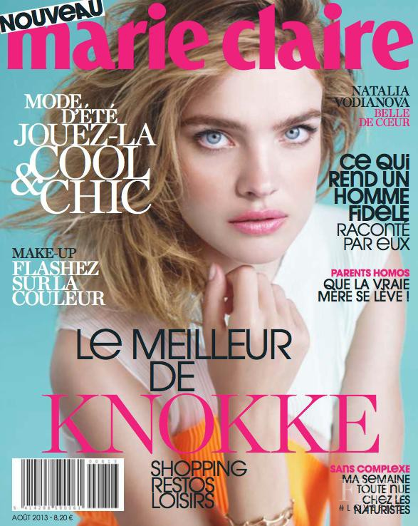Natalia Vodianova featured on the Marie Claire Belgium cover from August 2013