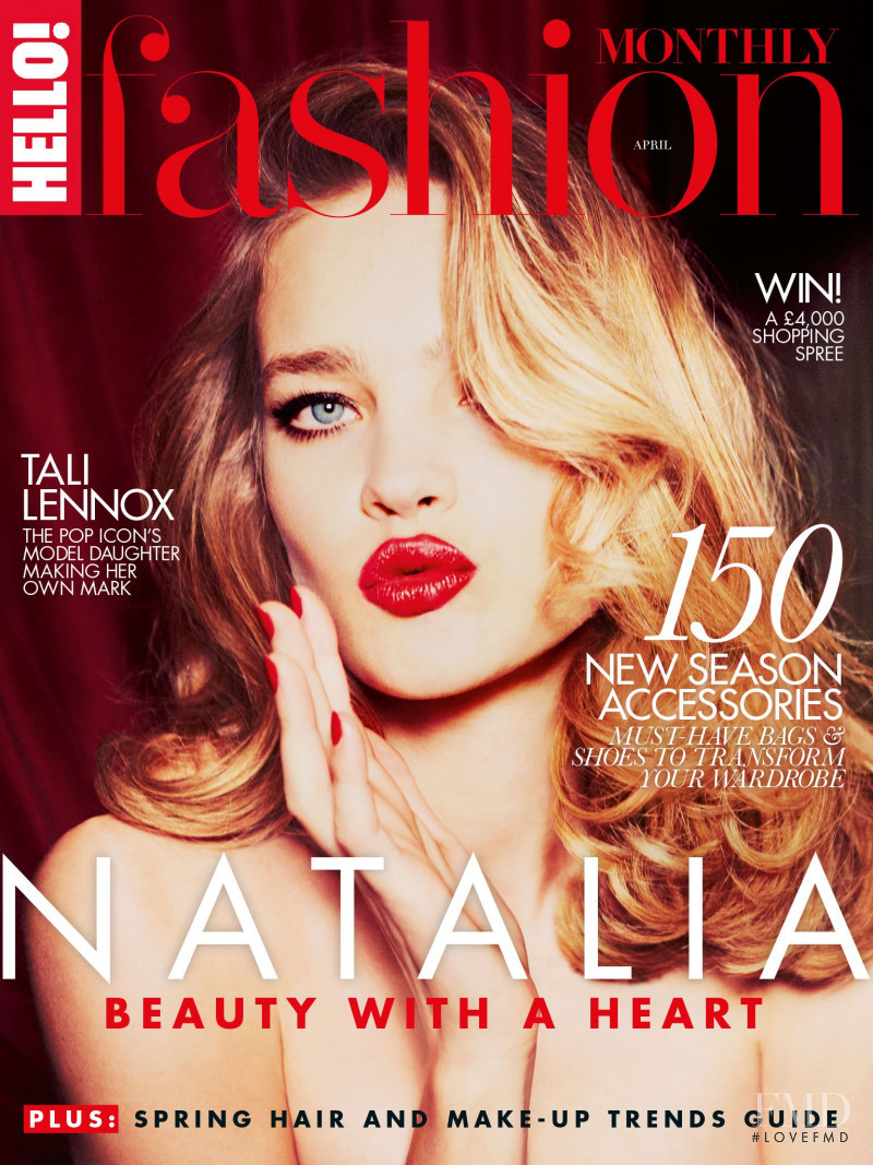 Natalia Vodianova featured on the Hello Fashion cover from April 2015