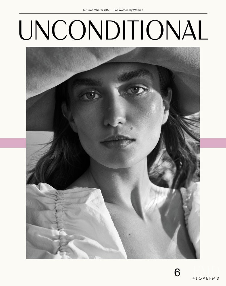 Andreea Diaconu featured on the Unconditional cover from December 2017