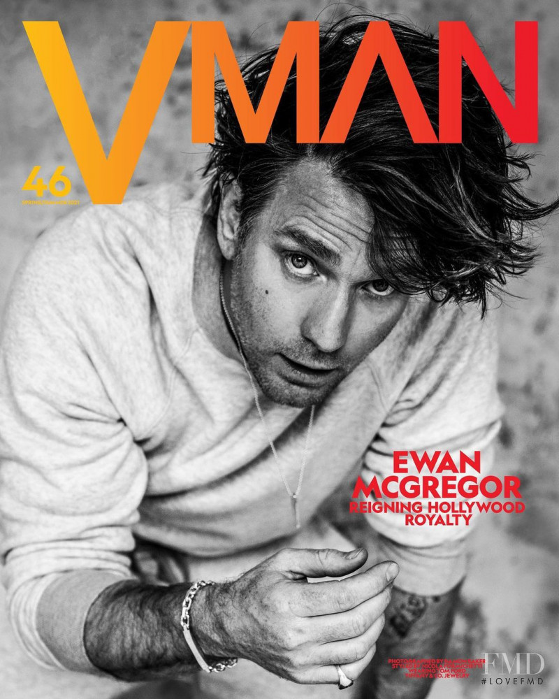 Ewan McGregor featured on the V Man cover from March 2021