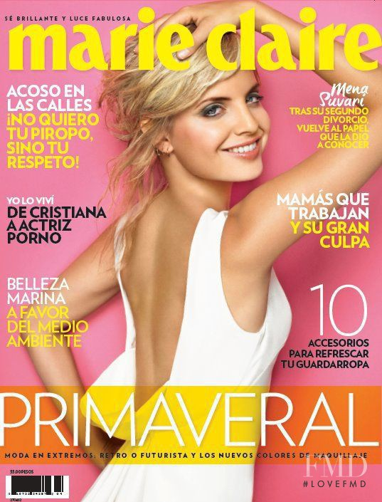 Mena Suvari featured on the Marie Claire Mexico cover from April 2012