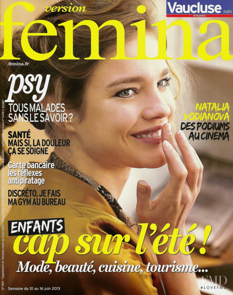 Natalia Vodianova featured on the Version Femina cover from June 2013