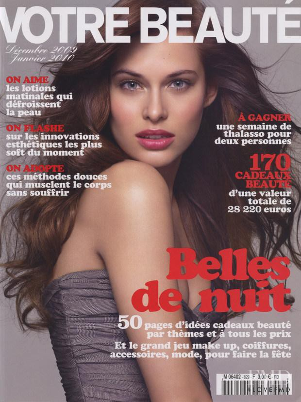 Lana Zakocela featured on the Votre Beauté France cover from December 2009