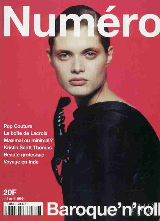 Malgosia Bela featured on the Numéro France cover from April 1999