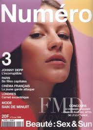 Gisele Bundchen featured on the Numéro France cover from May 1999