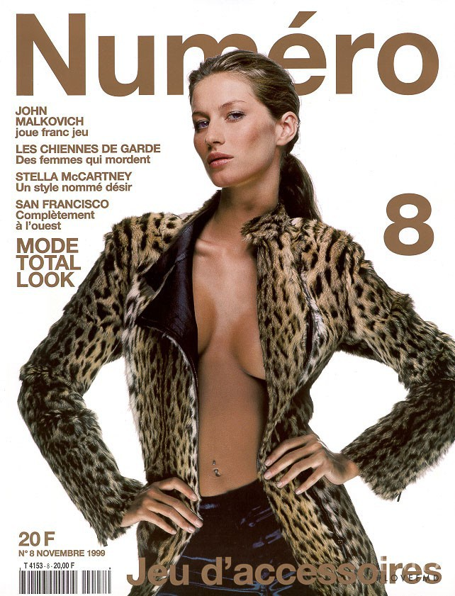 Gisele Bundchen featured on the Numéro France cover from November 1999