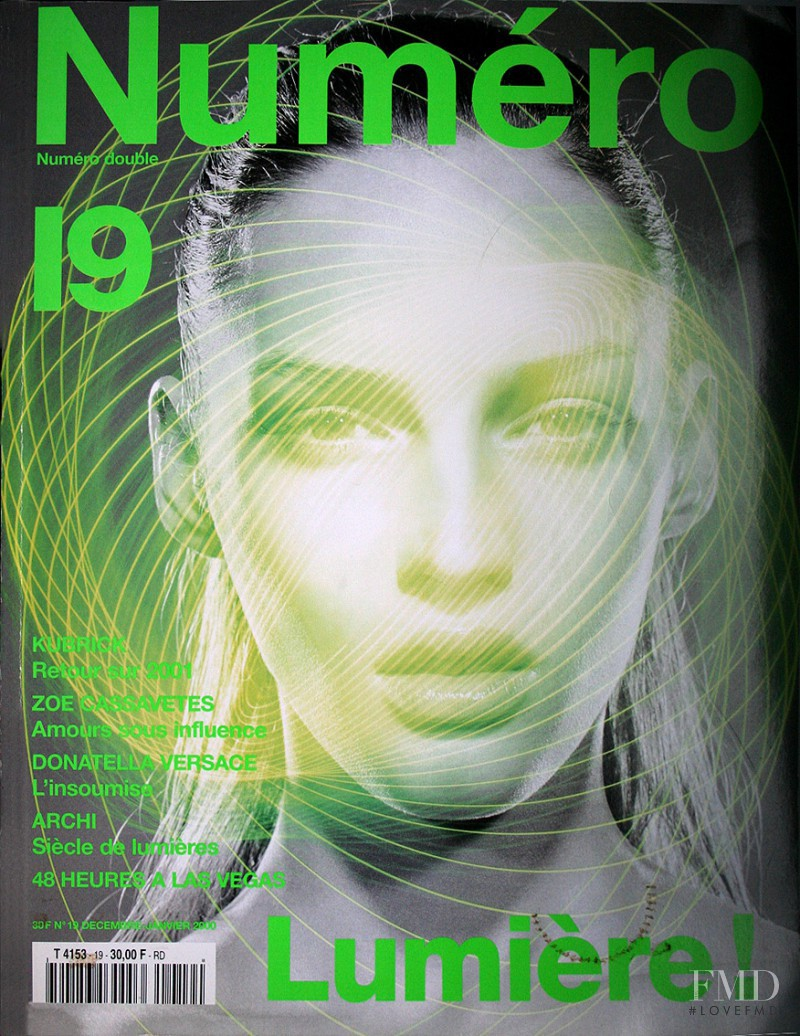 Vivien Solari featured on the Numéro France cover from December 2000