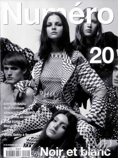 Aiste Miseviciute featured on the Numéro France cover from February 2001