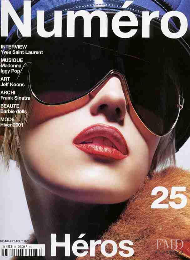Diana Meszaros featured on the Numéro France cover from July 2001