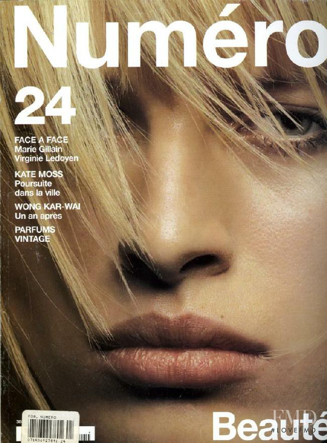 Karolina Kurkova featured on the Numéro France cover from June 2001