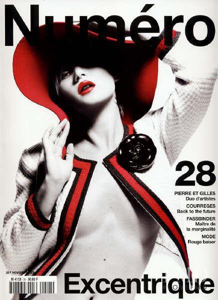 Kate Moss featured on the Numéro France cover from November 2001