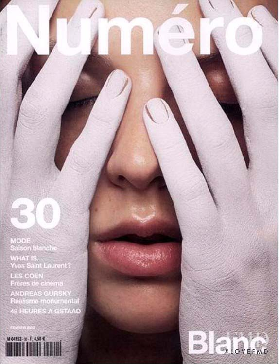 Clara Veiga Gazinelli featured on the Numéro France cover from February 2002