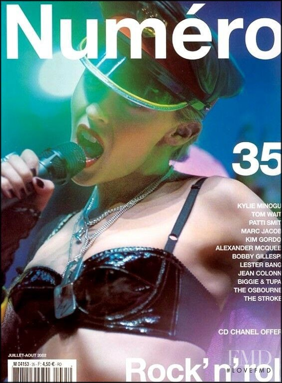 Kylie Minogue featured on the Numéro France cover from July 2002