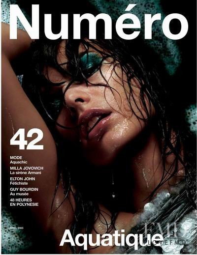Milla Jovovich featured on the Numéro France cover from April 2003