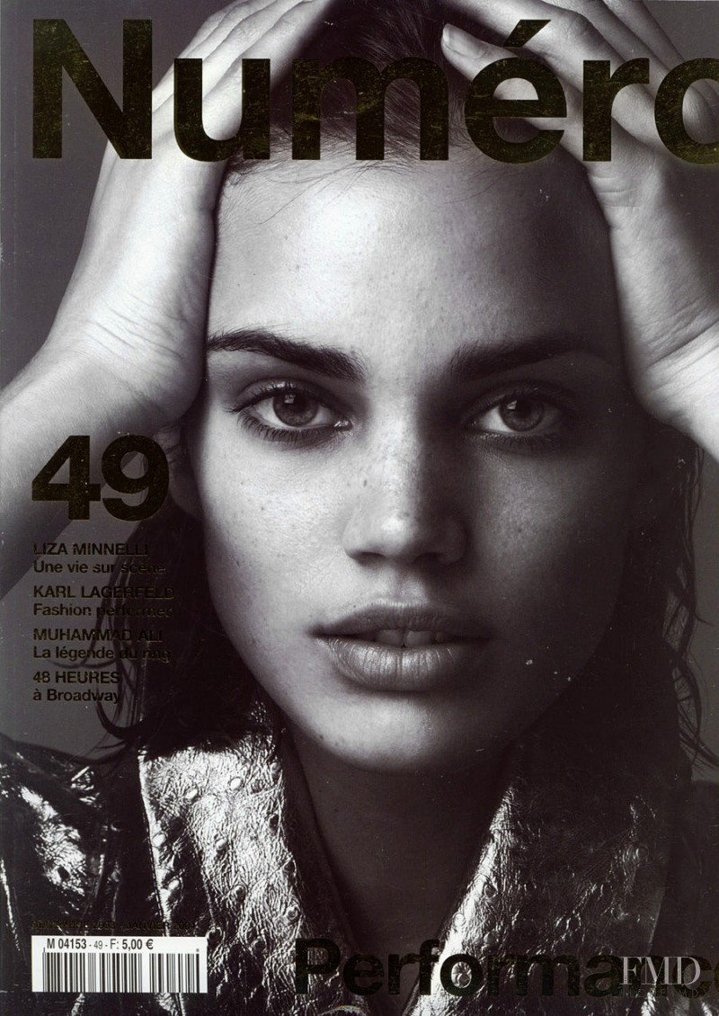 Rianne ten Haken featured on the Numéro France cover from December 2003