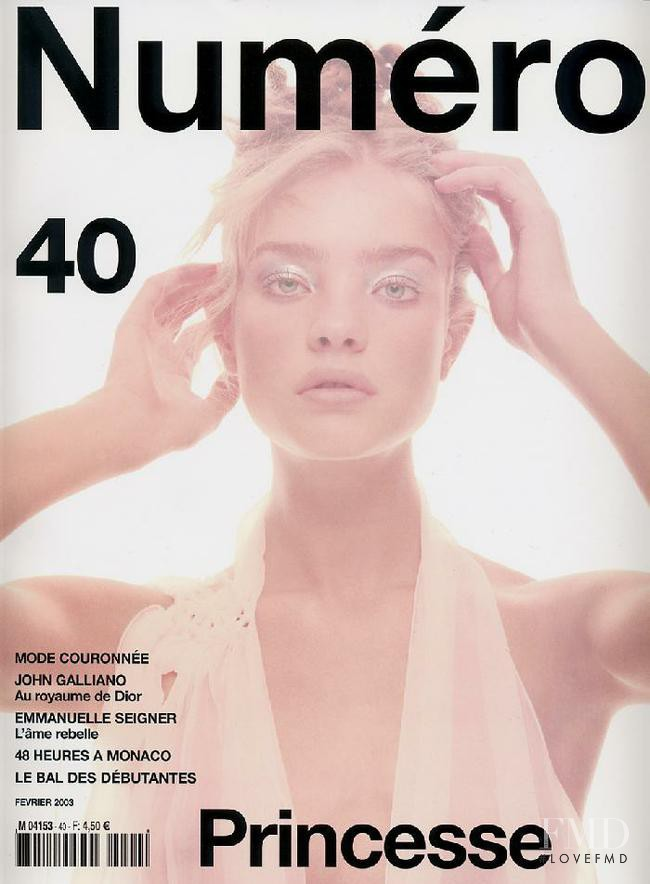 Natalia Vodianova featured on the Numéro France cover from February 2003