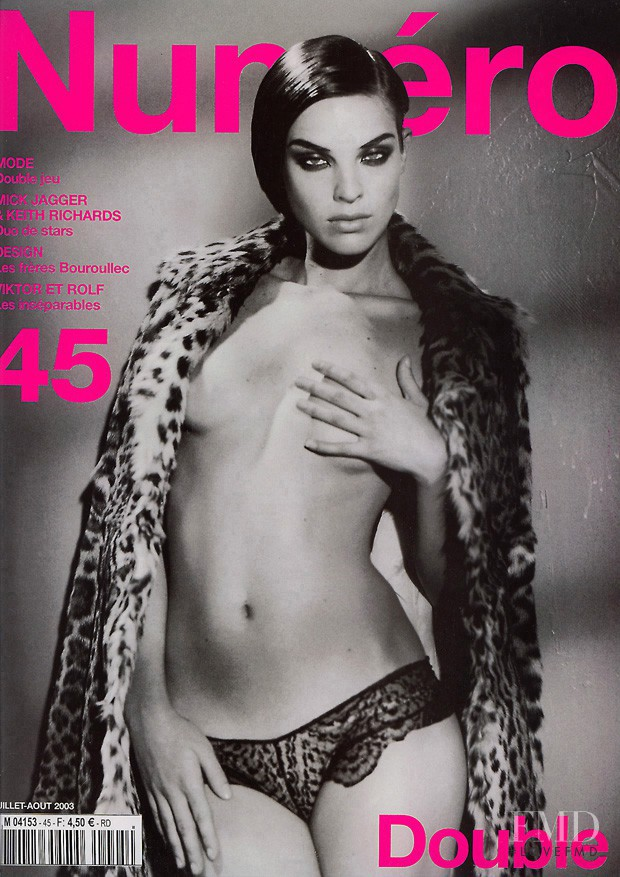 Leticia Birkheuer featured on the Numéro France cover from July 2003