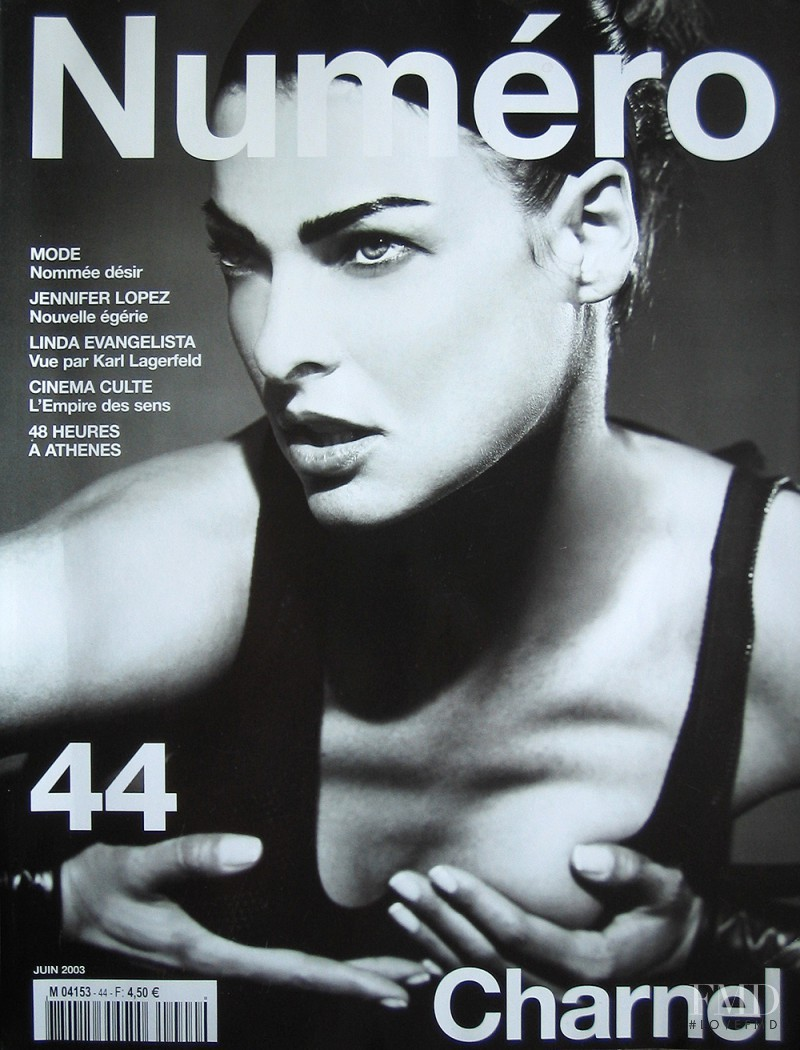 Natalia Vodianova featured on the Numéro France cover from June 2003
