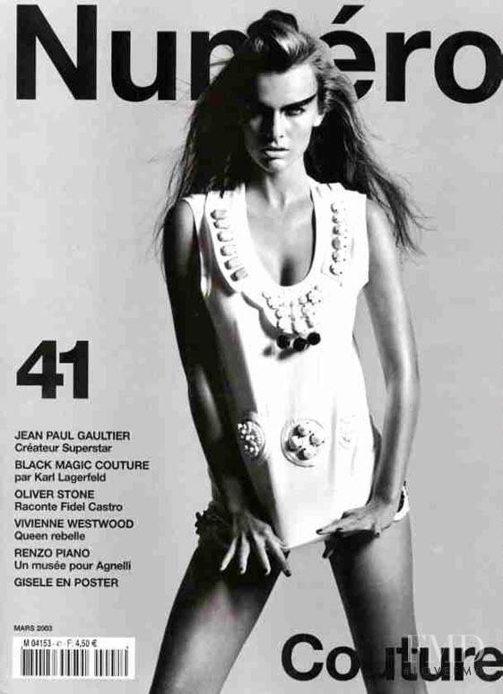 Filippa Hamilton featured on the Numéro France cover from March 2003