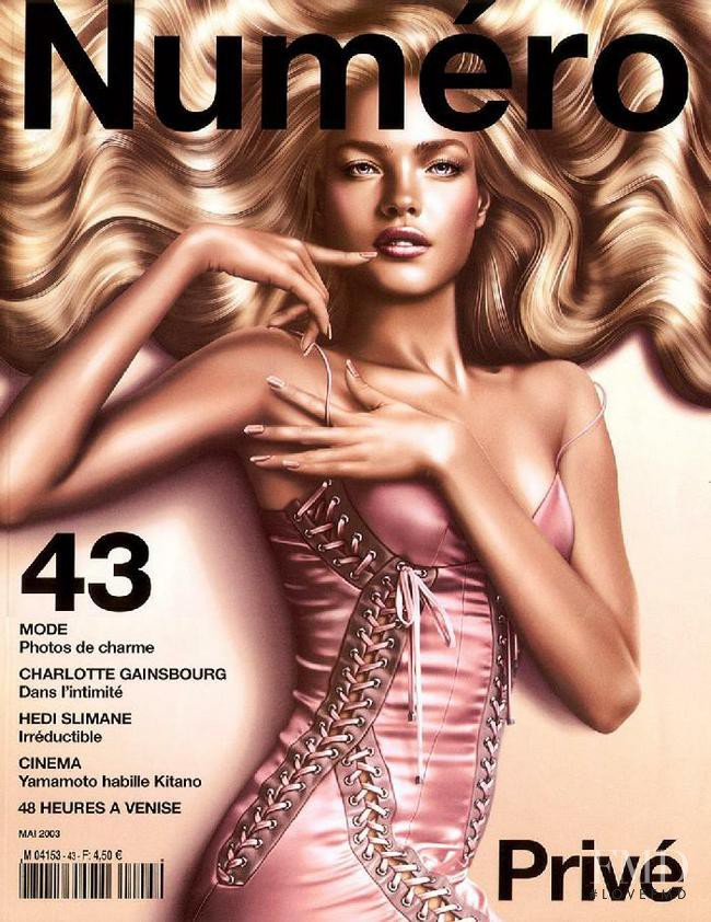 Natalia Vodianova featured on the Numéro France cover from May 2003