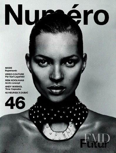 Kate Moss featured on the Numéro France cover from September 2003