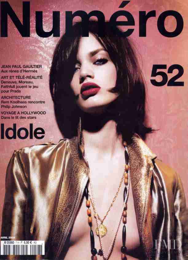 Rianne ten Haken featured on the Numéro France cover from April 2004