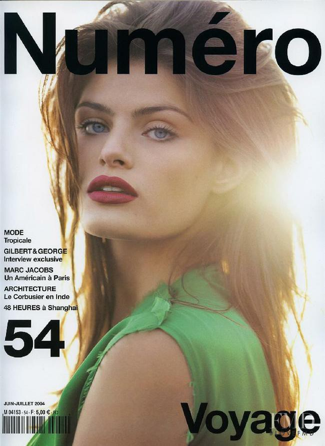 Isabeli Fontana featured on the Numéro France cover from June 2004