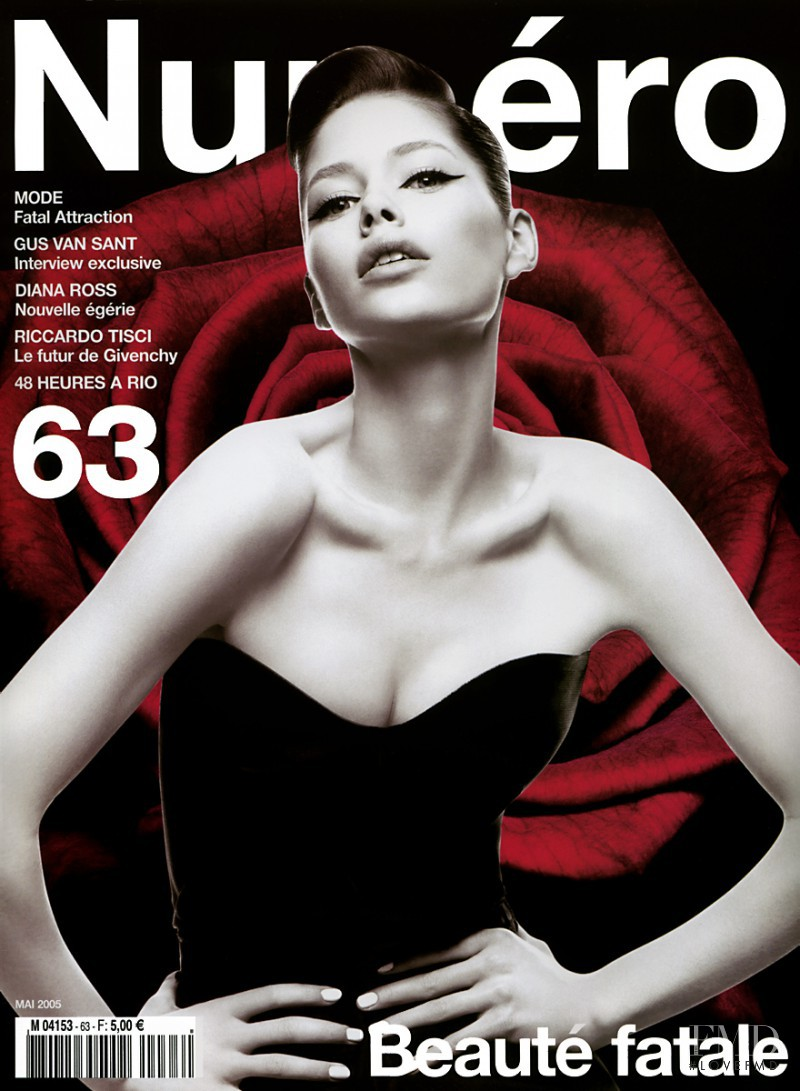 Doutzen Kroes featured on the Numéro France cover from May 2005