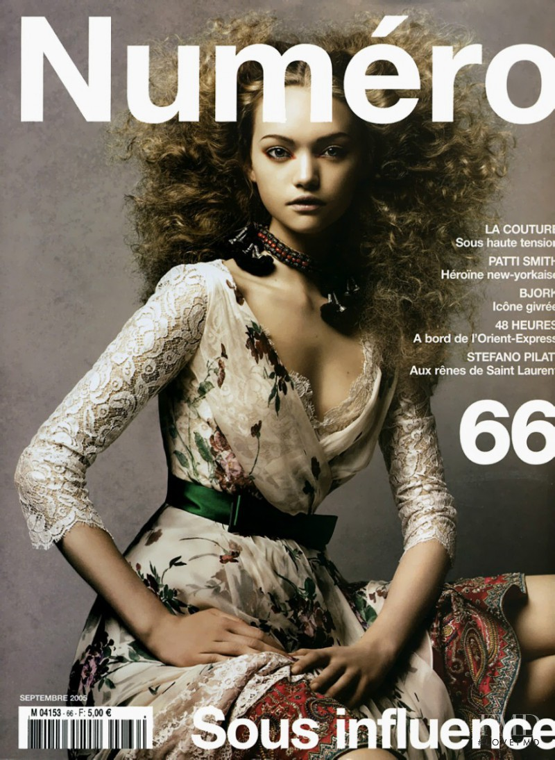 Gemma Ward featured on the Numéro France cover from September 2005